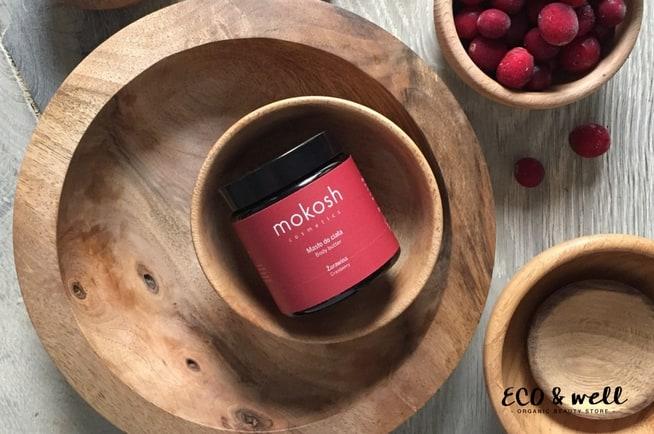 naturalne kosmetyki mokosh, masło do ciała żurawina, opakowanie zero waste