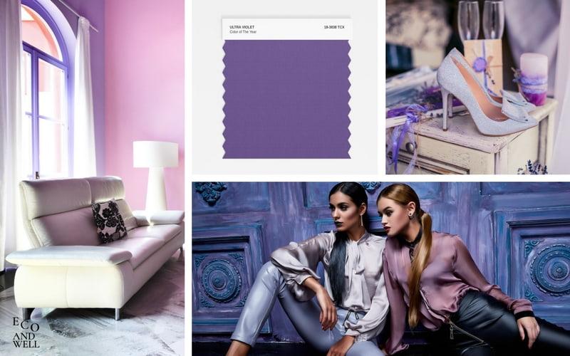 pantone kolor roku 2018 ultra violet, stylizacje w najmodniejszym kolorze roku