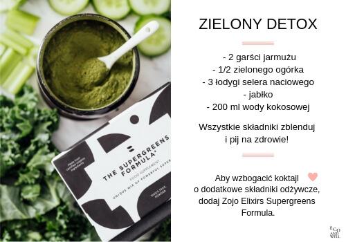 Przepis na koktajl zielony detoks