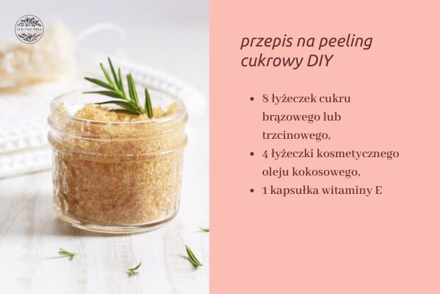 przepis na domowy peeling cukrowy z olejem kokosowym