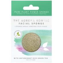 gąbka konjac do cery normalnej mieszanej, antyoksydacyjna z zieloną herbatą