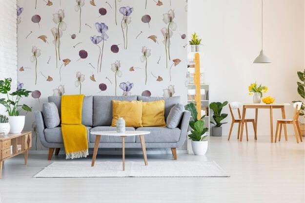 fototapeta floralna, dekoracja naturalna mieszkania