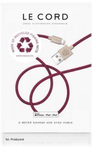 prezent zero waste kabel le cord z ryclingu