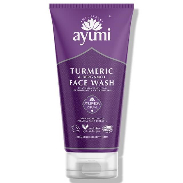 ajurwedyjski żel do mycia twarzy, ayumi żel myjący z kurkumą